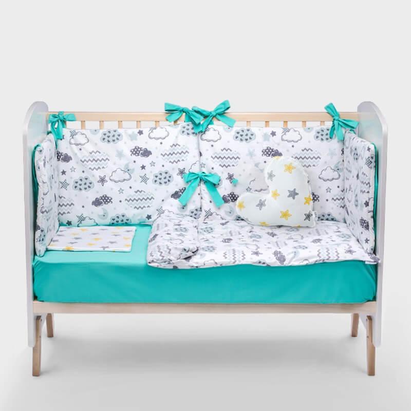 Kido tirkizna ogradica za krevetac