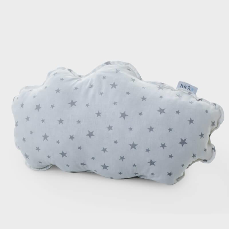 KIDO Ukrasni jastučić u obliku oblaka sa sivim zvezdicama