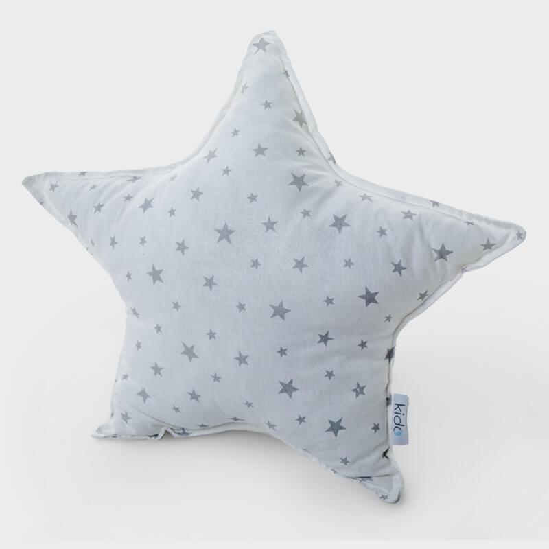 KIDO Ukrasni jastučić u obliku zvezde sa sivim zvezdicama