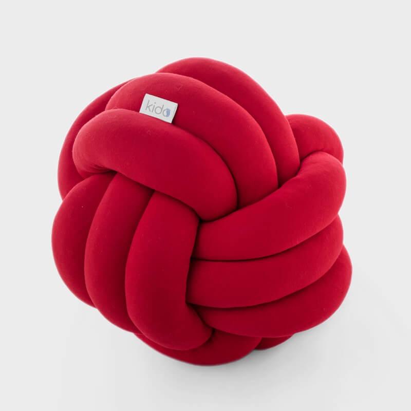 KIDO čvor jastuk za bebe crvene boje.