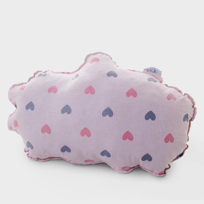 KIDO Ukrasni jastučić u obliku oblaka sa srcima