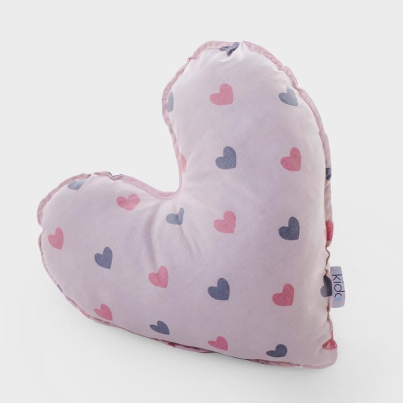 KIDO Ukrasni jastučić u obliku srca sa srcima