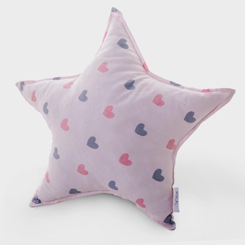 KIDO Ukrasni jastučić u obliku zvezde sa srcima