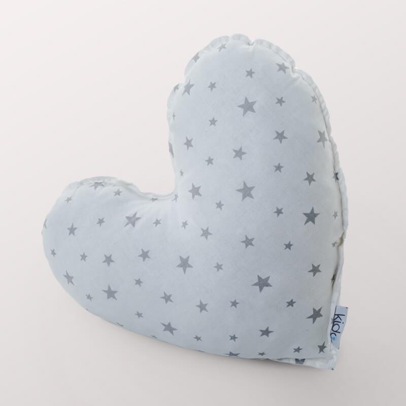 KIDO Ukrasni jastučić u obliku srca sa zvezdicama
