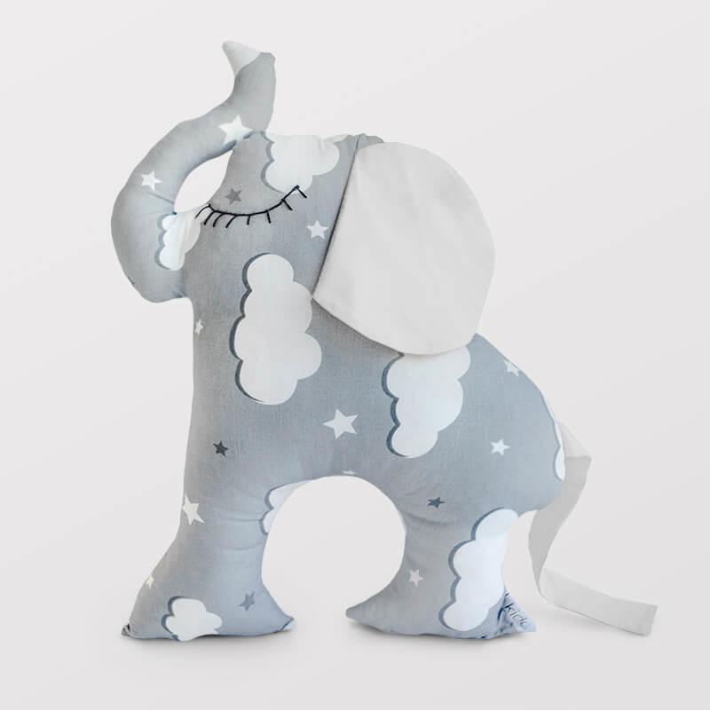 Kido ukrasni slon jastuk sa belim ušima