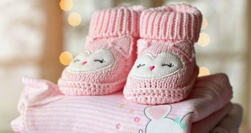 Dečije roze pleten patike za devojčice